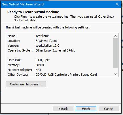 VMware erreur7